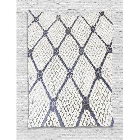 Cobblestone Tapestry, Urban City Traditional Blurred Portuguese Pavement in Lisbon, Wall Hanging for Bedroom Living Room Dorm Decor, 40W X 60L Inches, Charcoal Grey and Off White, by Ambesonne (Party City Coupons 40 Off)