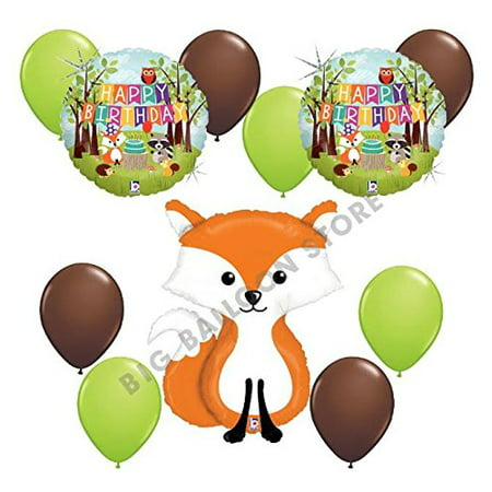 Woodland Creatures 11pc Fox Balloon Party Kit by - Party Balloon Kit