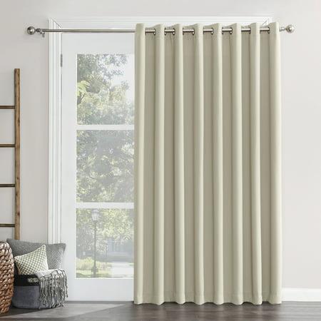 Sun Zero Conrad Extra Wide Blackout Sliding Patio Door Curtain Panel