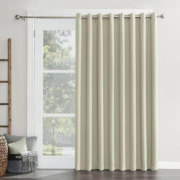 Sun Zero Conrad Extra Wide Blackout, Patio Panel Curtains