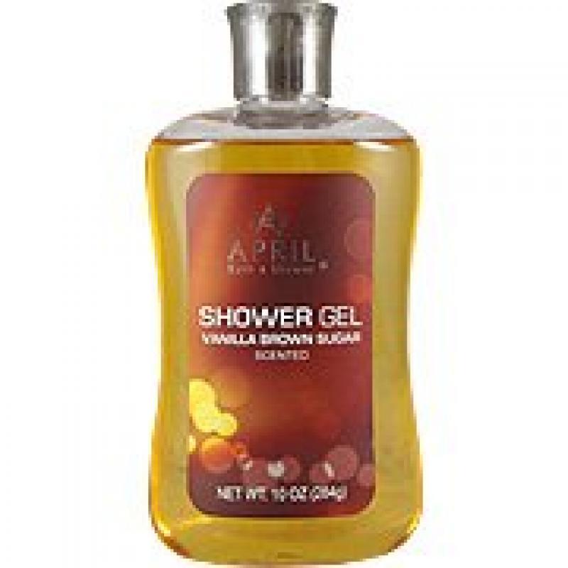 april bath shower vanilla brown sugar shower gel 10 oz