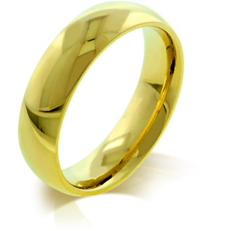 Kate Bissett R08038GV-V00-07 5mm IPG Gold Plated Stainless Steel Wedding Band - image 1 of 1
