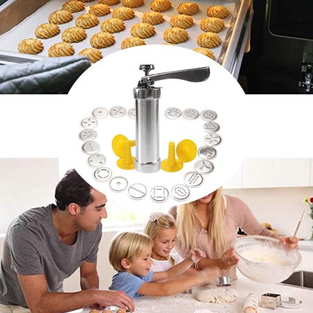 DIY Household Stainless Steel Tube Extrusion Stencil Machine 20 Flower Chip Cookie Cutters Manual Maker Press with 20 PCS Moulds - image 1 of 9