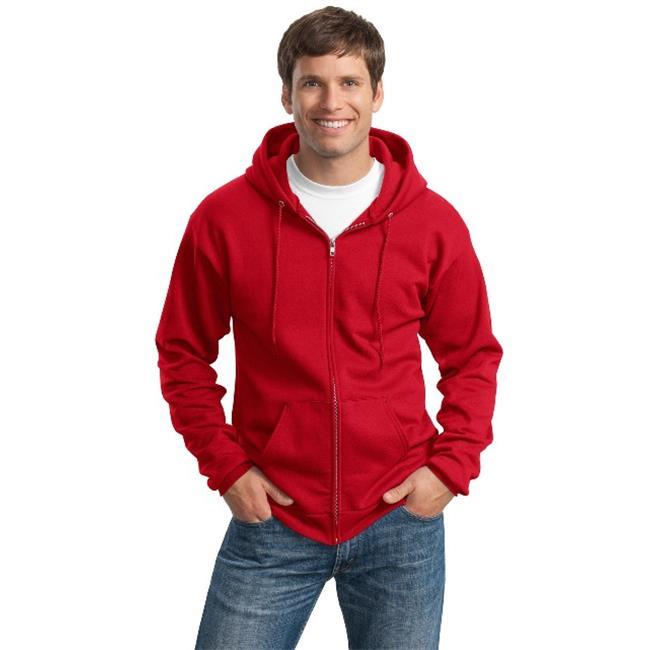 Port & Company® Tall Essential Fleece Full-Zip Hooded Sweatshirt. Pc90zht Red Lt - image 1 of 1