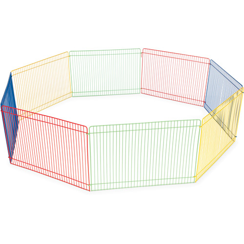 Prevue Pet Products Multi-Color 8-Panel Small Animal Pet Playpen