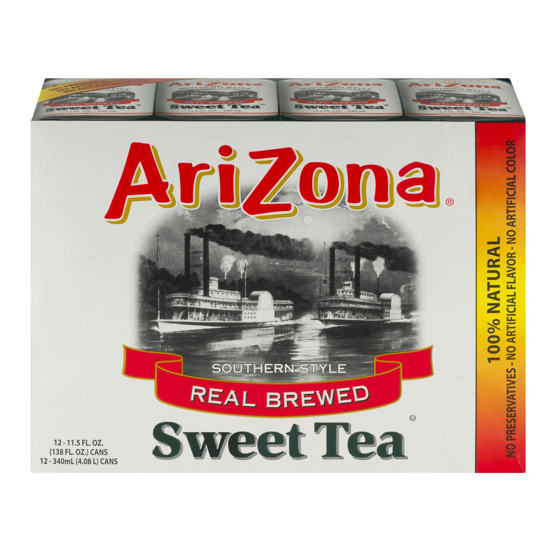 Arizona Southern Style Real Blend Sweet Tea, 11.5 Fl Oz, 12 Count