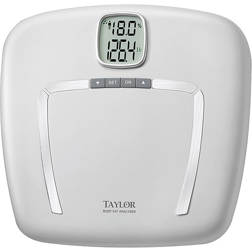 Taylor Bath Scale with Body Fat and Body Water Monitor