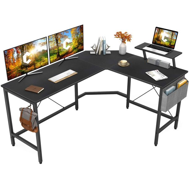 Cubiker Modern L Shaped Computer Office, L Shaped Desk For Small Office