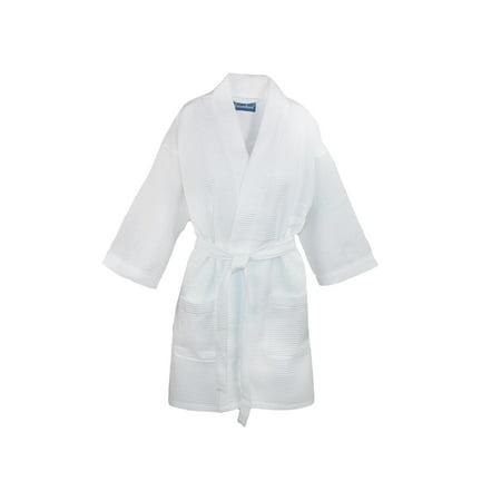 0b892e4158 Leisureland - Leisureland Size one size Women s Waffle Knit Spa Kimono Robe  - Walmart.com