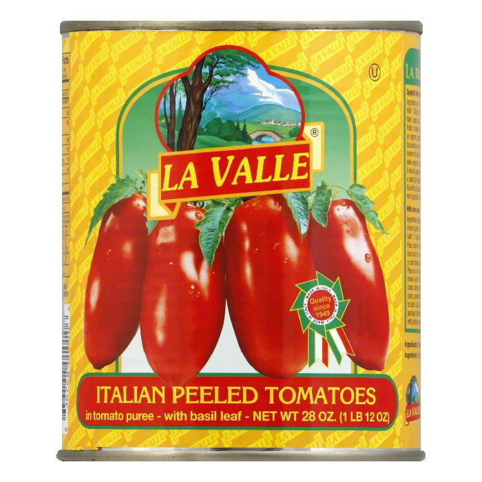 La Valle San Marzano Peeled Tomatoes, 28 OZ (Pack of 12)