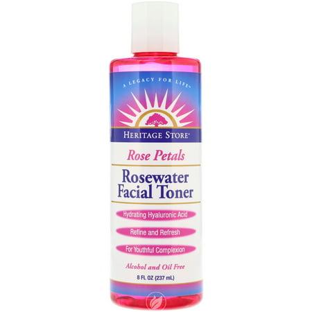 Heritage Products Rose Petals Rosewater Facial Toner 8 Ounce, Pack of 2 - Heritage Products Rose
