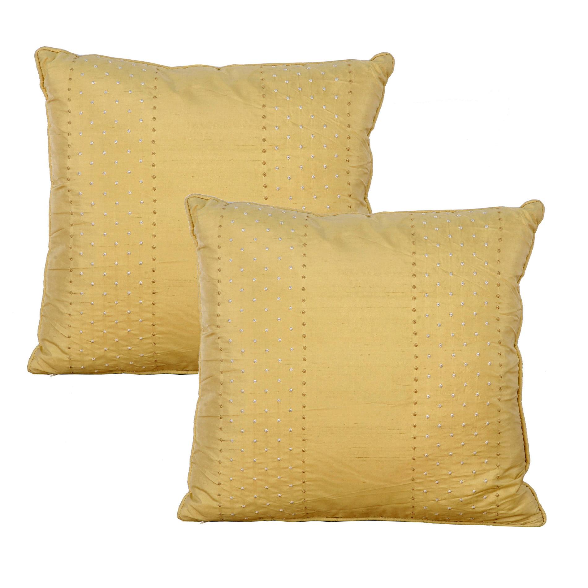 Serenta Marquesa Dot 2 Piece Embroidery Silk Filled Pillow Set