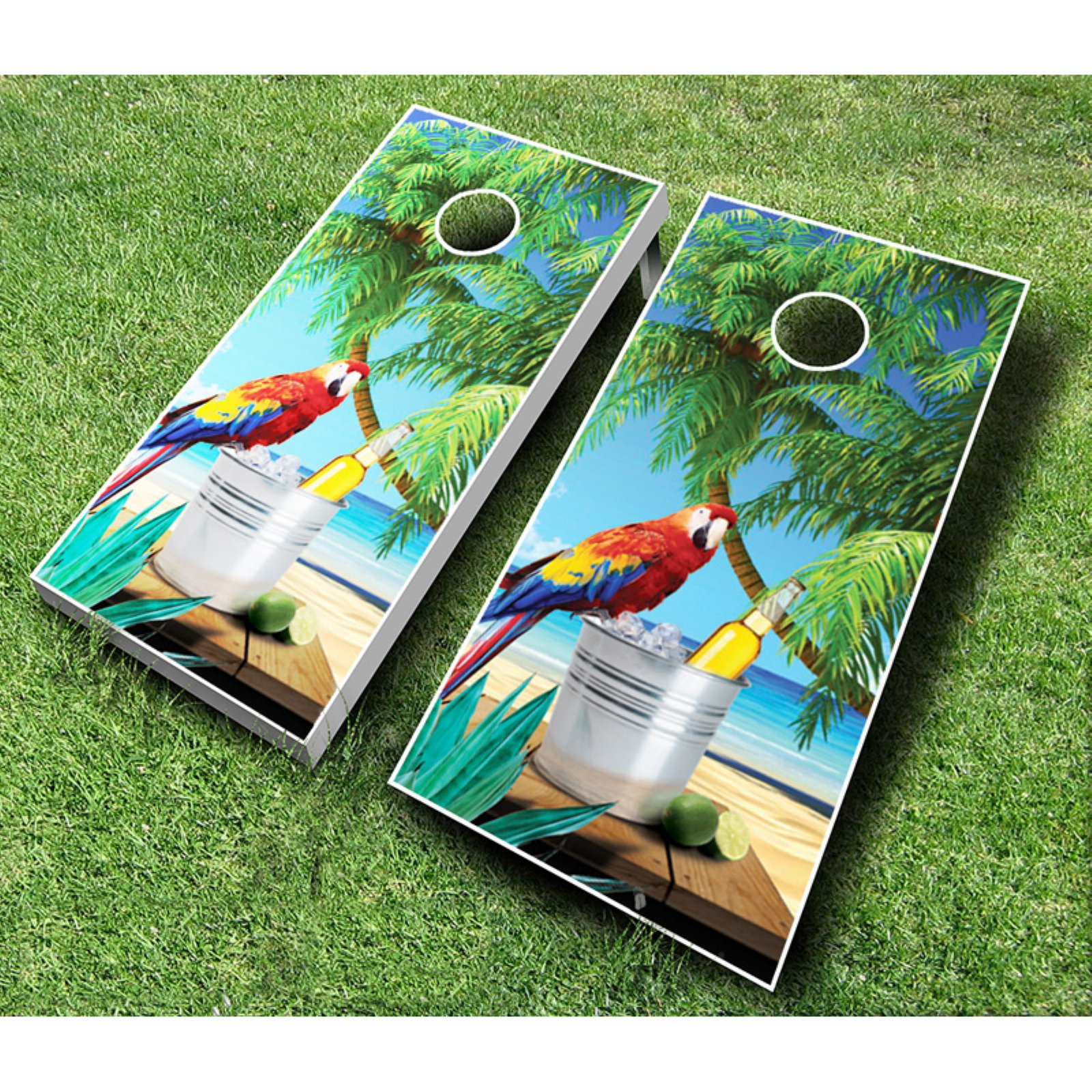 Click here to buy Parrot Cornhole Set with Bags by AJJ Cornhole.