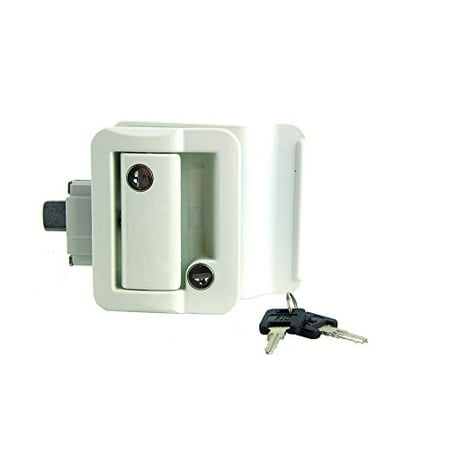 Lippert 239632  RV Entry Door Latch Kit White