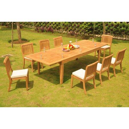 Tfo Large Arbor (Teak Dining Set: 6 Seater 7 Pc: Large Caranasas 122