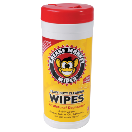 Grease Monkey Heavy Duty Cleaning Wipes 25pc Bottle Bicycle Auto Car Bike Repair