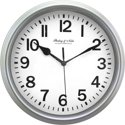 "Mainstays 8.78"" Basic Clock (Silver)"