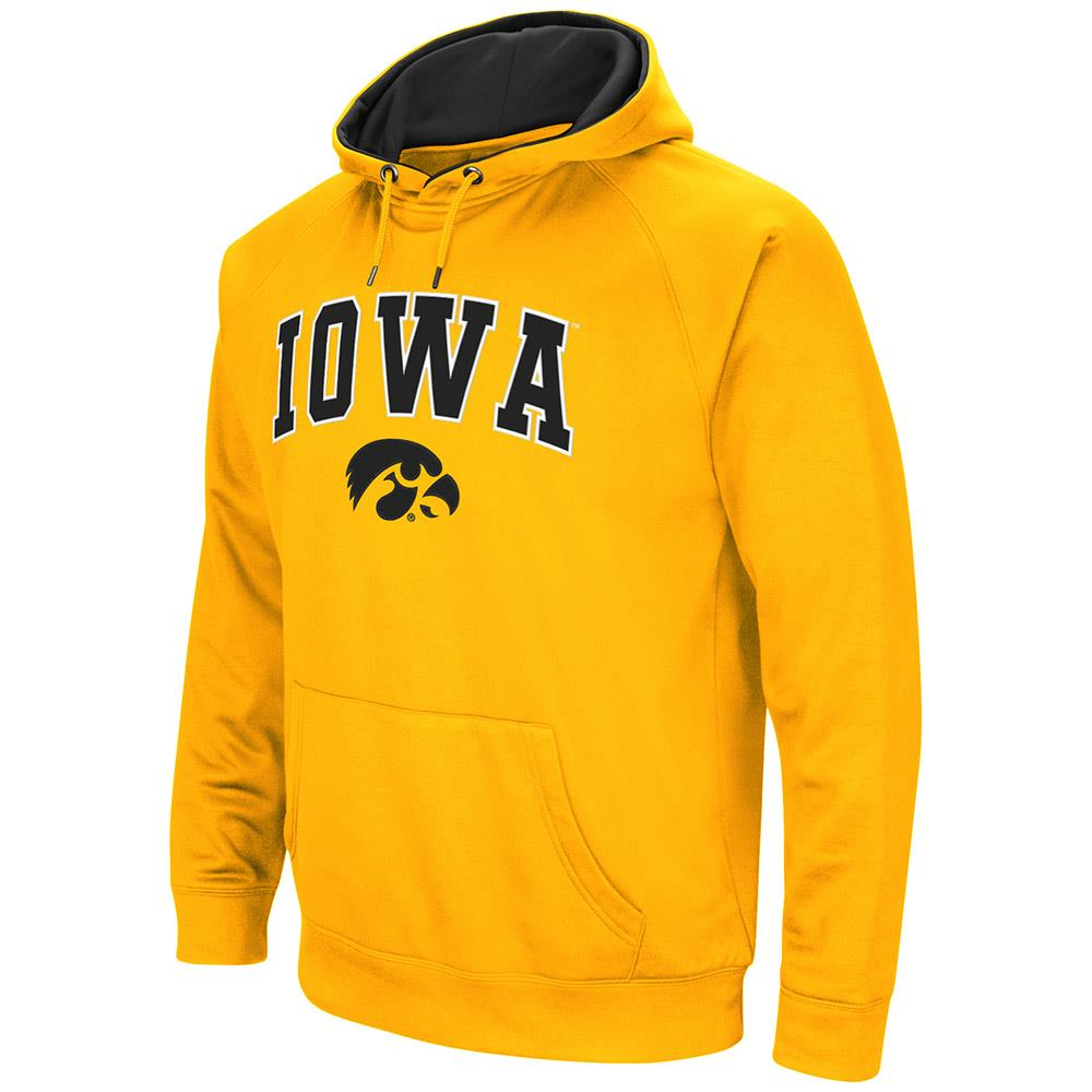 Mens Iowa Hawkeyes Fleece Pull-over Hoodie by Colosseum