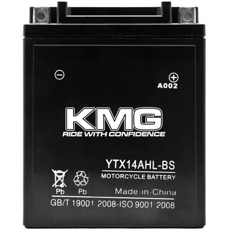 YTX14AHL-BS Battery For Arctic Cat Prowler 1990-1993 Sealed Maintenance Free 12V Battery High Performance SMF OEM Replacement Powersport Motorcycle ATV Snowmobile Watercraft - image 1 de 3