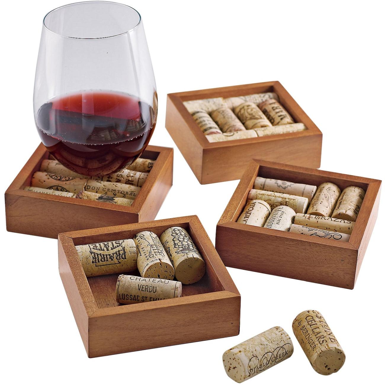 Wine Enthusiast Wine Cork Coasters Kit (Set of 2) (Set of 4)