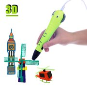 Multifunctional Intelligent 3D Drawing Printing Printer Pen with PLA Filament Refills Cartoon Image Gifts for Kids Children DIY Craft Non-Clogging