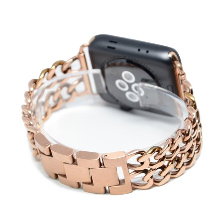 Length Free Watch Band For Apple Iwatch Series I 1   Ii 2 42Mm  Seraph Gear   Rose Gold