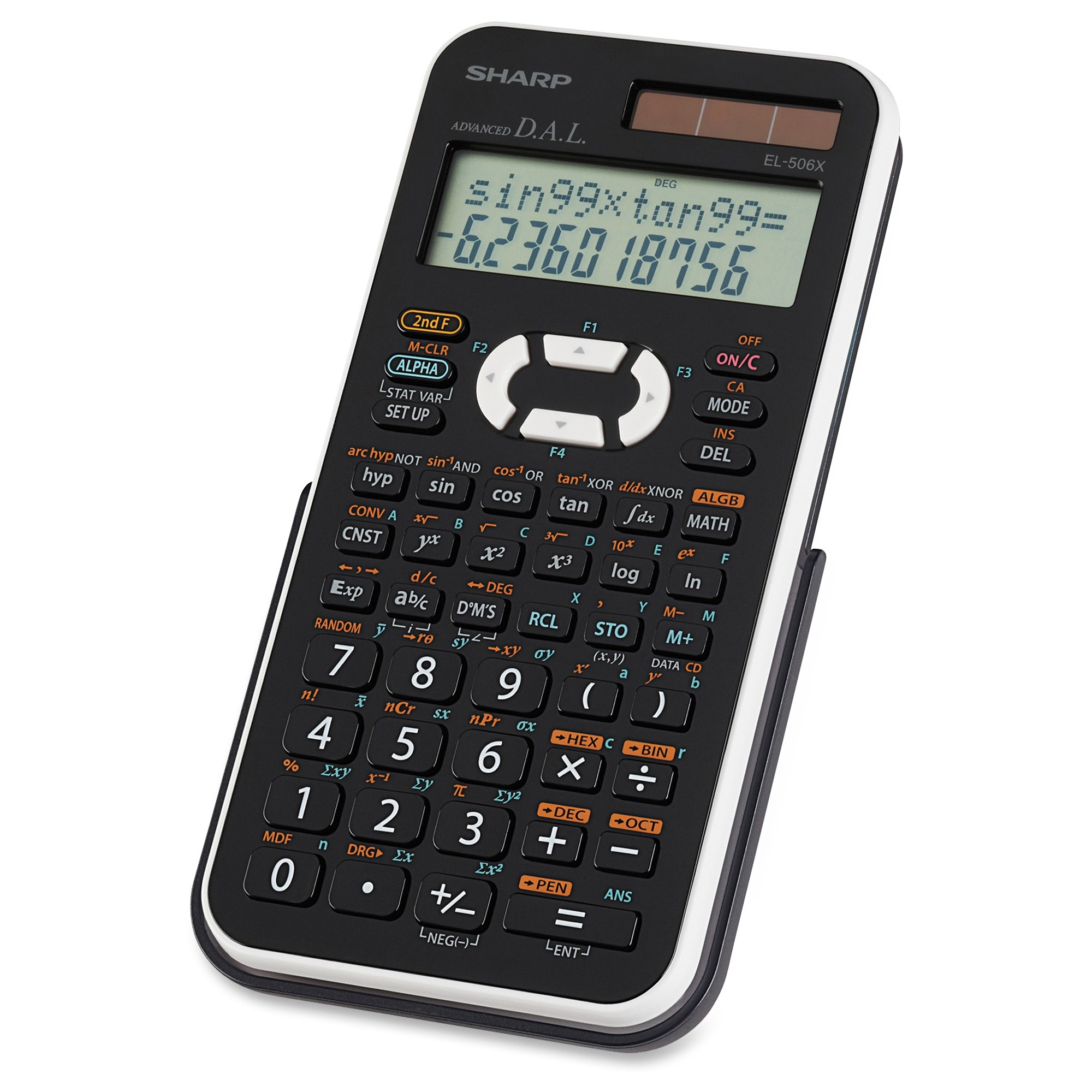 Sharp Electronics EL-506XBWH Engineering/Scientific Calculator, Black