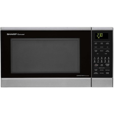 Sharp Carousel 0.9-cu. ft. 900W Countertop Convection Microwave Oven, Stainless Steel