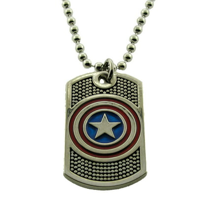Captain America Marvel Comic Avengers Pendants Necklace Costume Halloween - Halloween Meal