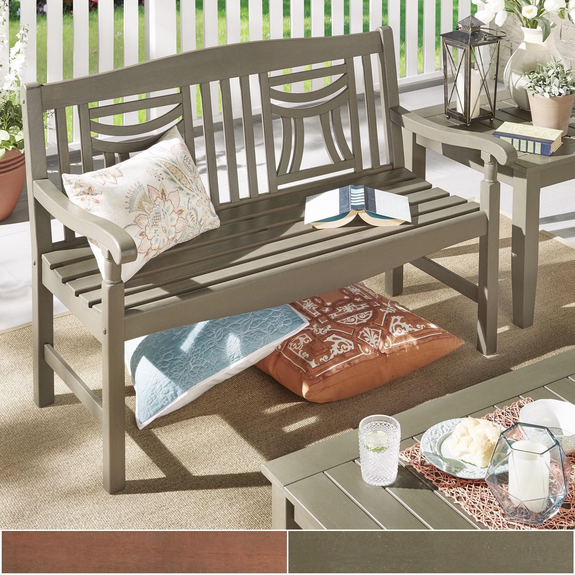 iNSPIRE Q Yasawa Wood Outdoor Window Back Garden Bench  O...