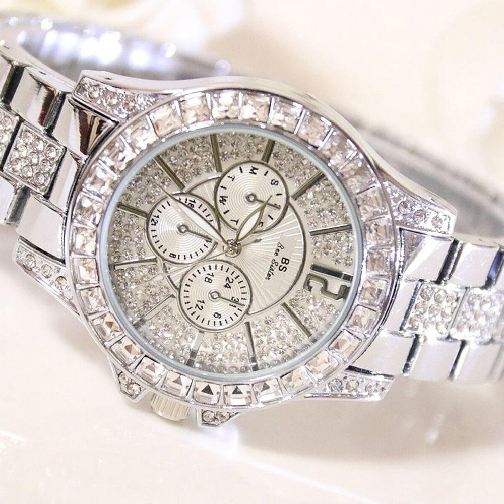 Stylish Women Quartz Watches Rhinestone Diamond Casual Wristwatch for Ladies Lady Watches Elegance Wristwatches