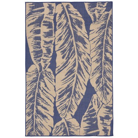 Banana Leaf Indoor Outdoor Rug Blue