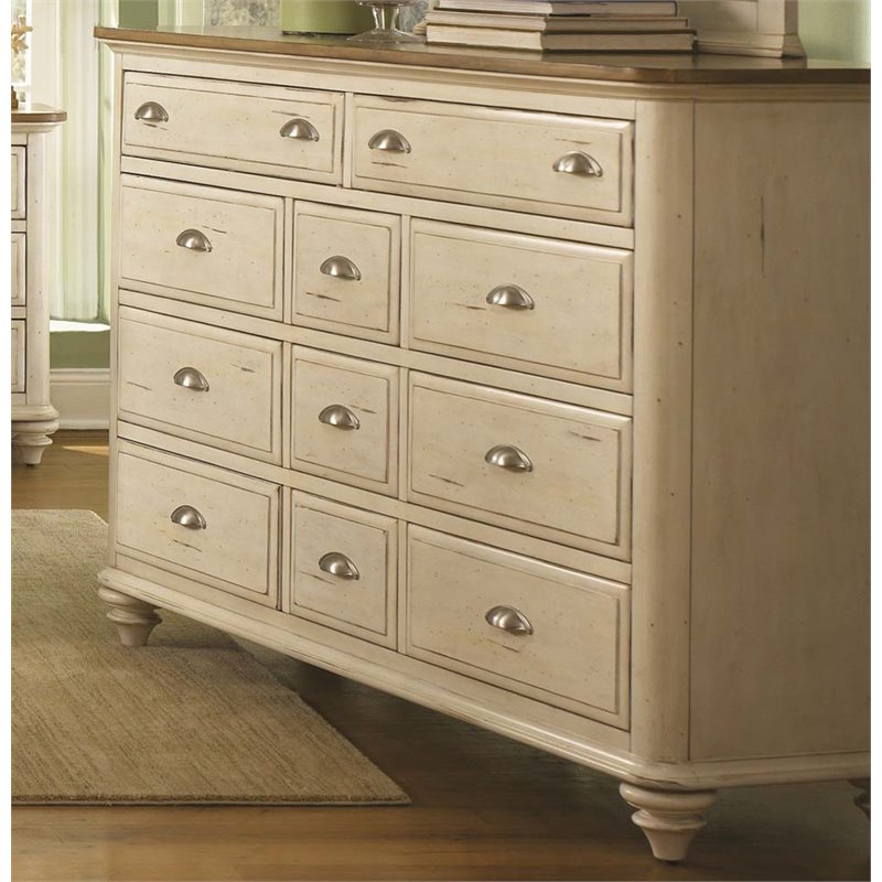 Liberty Furniture Ocean Isle 11 Drawer Dresser in Bisque