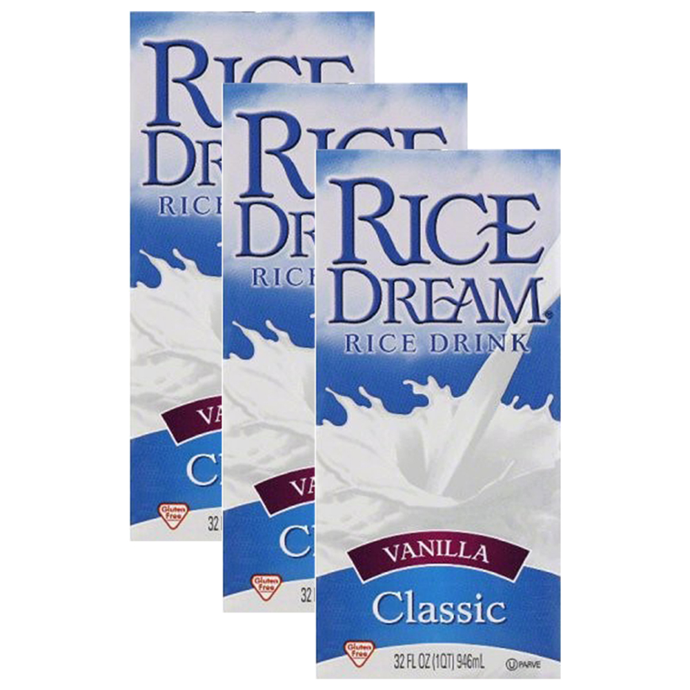 (3 Pack) RICE DREAM Classic Vanilla Rice Drink, 32 fl. oz.