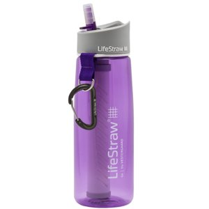 LifeStraw Go Water Bottle with 2-Stage Filtration, Purple