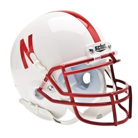 NCAA Nebraska Collectible Mini Football Helmet, Real metal faceguard By Schutt