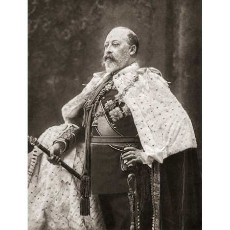 Edward VII 1841 Canvas Art - Ken Welsh Design Pics (12 x 16)