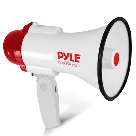 PYLE PMP30 - Megaphone PA Bullhorn with Built-in Siren, Adjustable Volume Control and 800 Yard Range