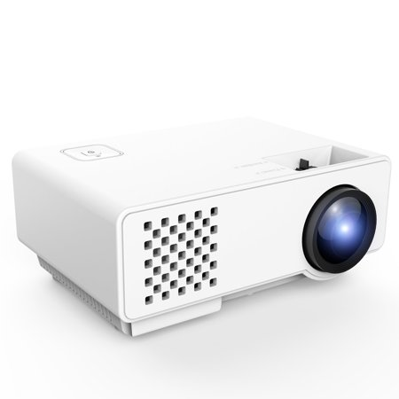 Tenswall 1200 Lumens LED Portable Projector, Multimedia Home Theater Video Projector Supporting 1080P,