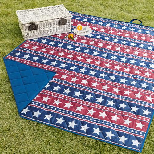 Mainstays Ms Lawn Blanket Star Print/blue Solid