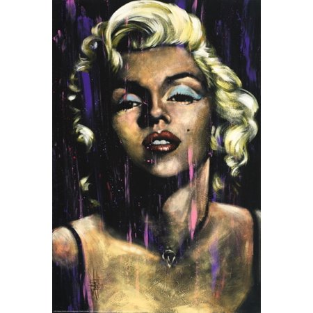 Marilyn Monroe Candle in the Wind by Fishwick Poster Print (24 x 36)