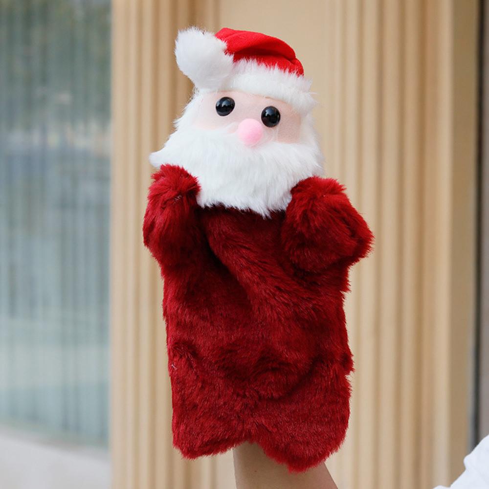DZT1968 Christmas Cute Cartoon Animal Doll Kids Glove Hand Puppet Plush Finger Toys