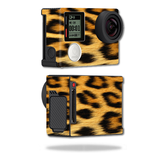 Mightyskins Protective Vinyl Skin Decal Cover for GoPro Hero4 Black Edition Camera Digital Camcorder wrap sticker skins Cheetah