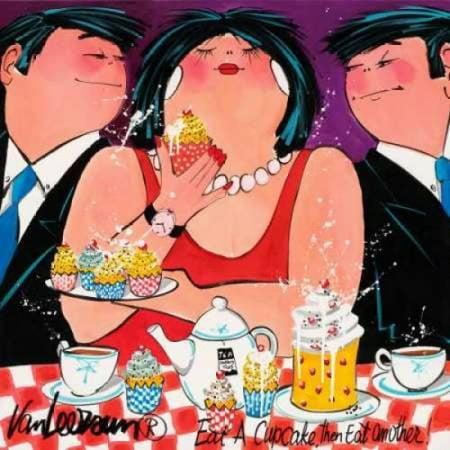 Eat a cupcake Canvas Art - El van Leersum (24 x 24)](Cupcake Vans)