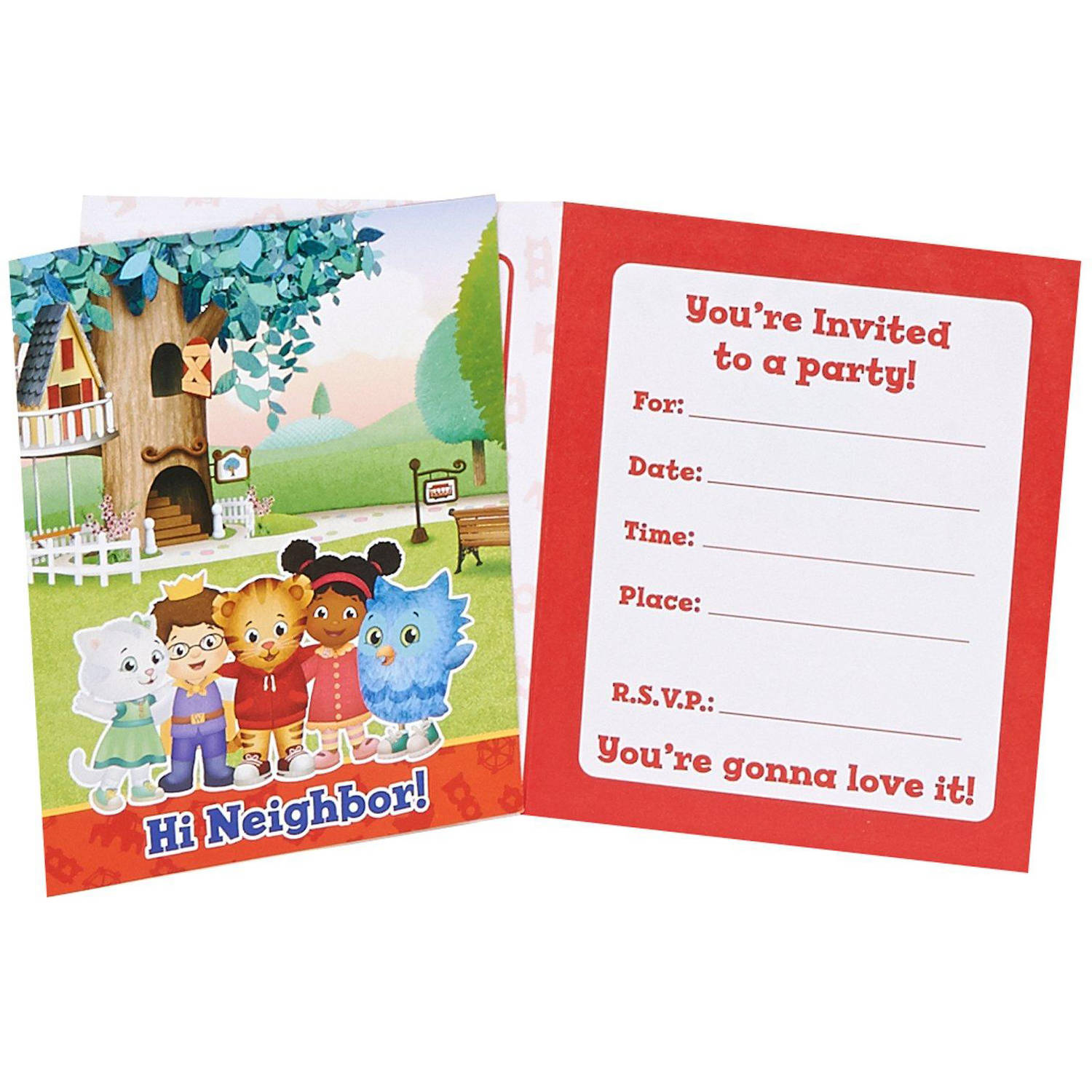 Daniel Tiger's Neighborhood Invitations