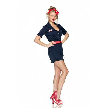 Womens Riveting Rosie Halloween Costume