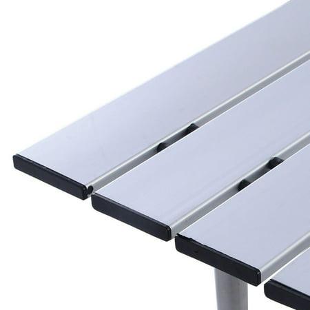 Moustache Camping Table, Portable Square Aluminum Folding Table , 70cmx70cm - image 2 of 6