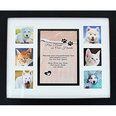 pet memorial collage frame - 11x14 picture frame w/ sympathy poem ...