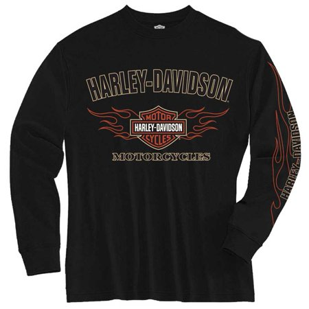 Harley Davidson Little Boys 39 Tee Long Sleeve Flames Bar