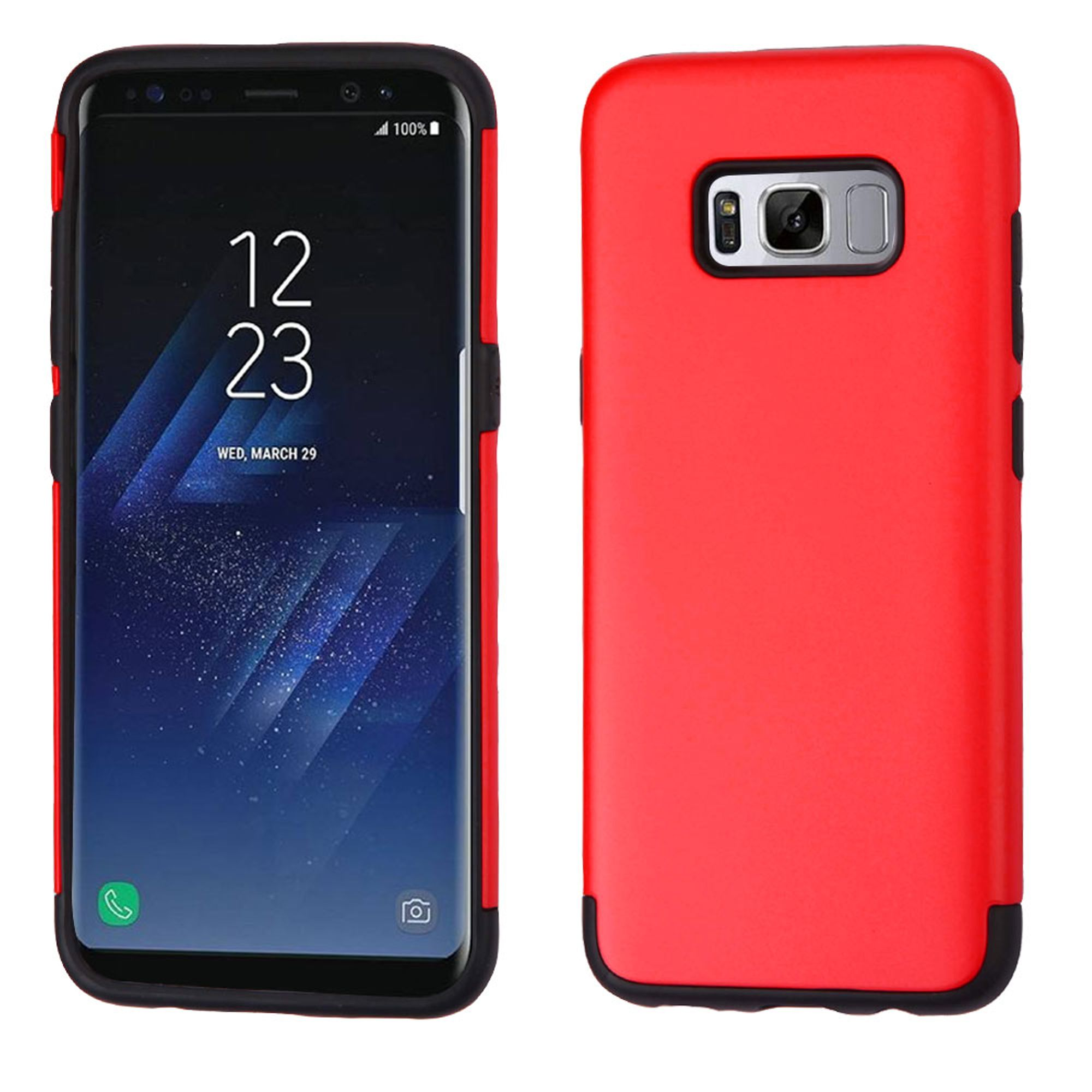 Samsung Galaxy S8 Case, by Insten Glossy Hybrid Dual Layer Hard Plastic/TPU Shockproof Case Phone Cover For Samsung Galaxy S8